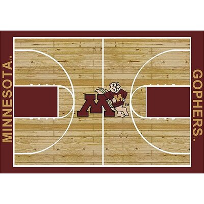 NCAA College Home Court Minnesota Novelty Rug Rug Size: 109 x 132