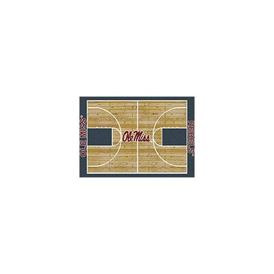 NCAA College Home Court Mississippi Novelty Rug Rug Size: Rectangle 54 x 78