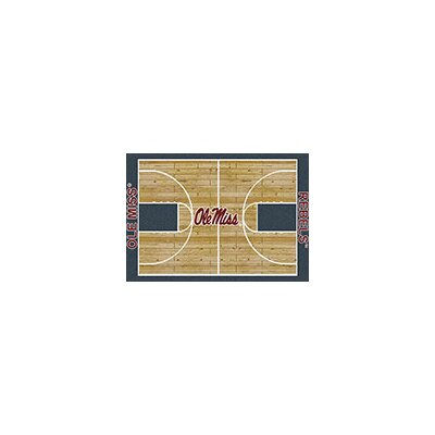 NCAA College Home Court Mississippi Novelty Rug Rug Size: 109 x 132