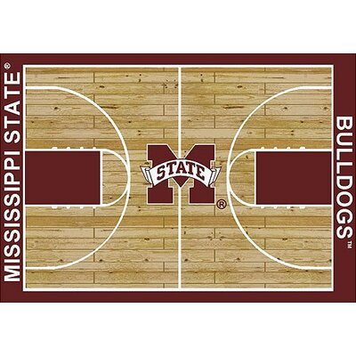 NCAA College Home Court Mississippi State Novelty Rug Rug Size: 109 x 132