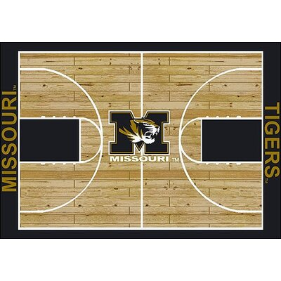 NCAA College Home Court Missouri Novelty Rug Rug Size: 109 x 132