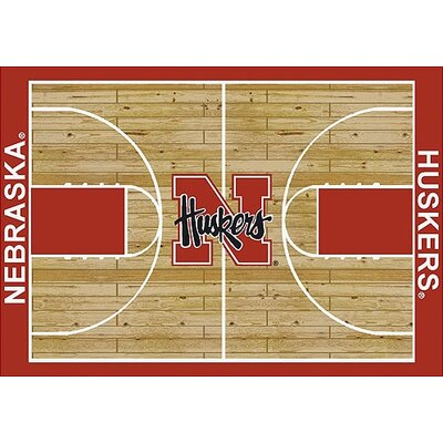 NCAA College Home Court Nebraska Novelty Rug Rug Size: 54 x 78