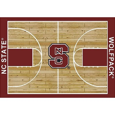 NCAA College Home Court North Carolina State Novelty Rug Rug Size: 109 x 132