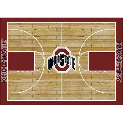 NCAA College Home Court Ohio State Novelty Rug Rug Size: 109 x 132