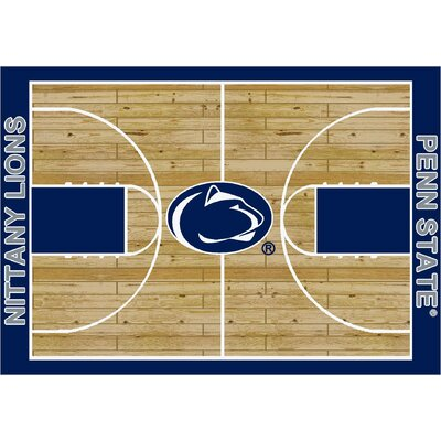 NCAA College Home Court Penn State Novelty Rug Rug Size: 109 x 132