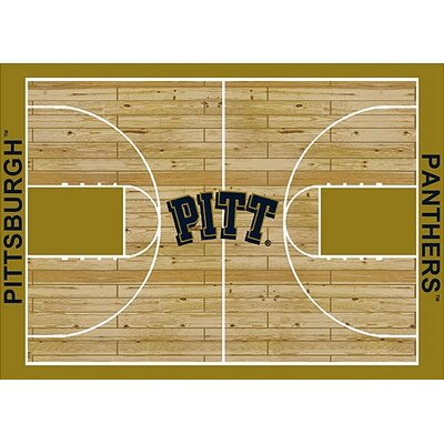 NCAA College Home Court Pittsburgh Novelty Rug Rug Size: 54 x 78