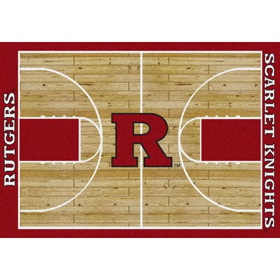NCAA College Home Court Rutgers Novelty Rug Rug Size: 54 x 78