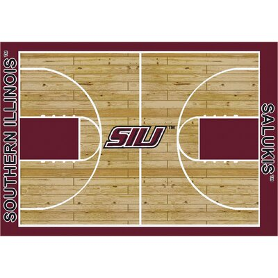 NCAA College Home Court Southern Illinois Novelty Rug Rug Size: 54 x 78
