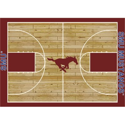 NCAA College Home Court Southern Methodist Novelty Rug Rug Size: 54 x 78