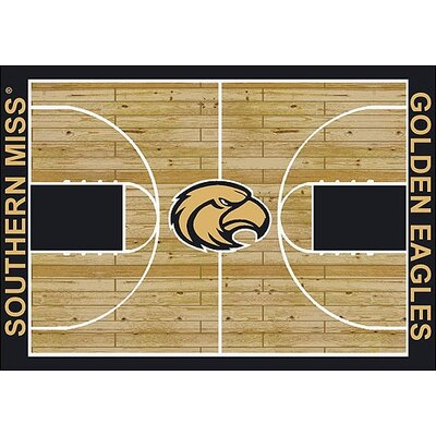 NCAA College Home Court Southern Mississippi Novelty Rug Rug Size: 54 x 78