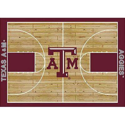 NCAA College Home Court Texas A&M Novelty Rug Rug Size: 78 x 109