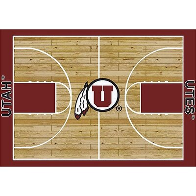 NCAA College Home Court Utah Novelty Rug Rug Size: 109 x 132