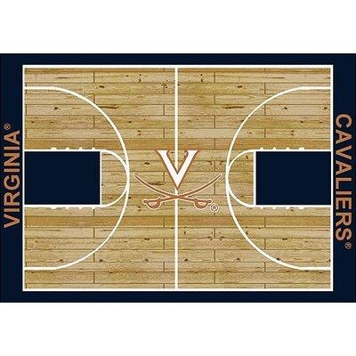 NCAA College Home Court Virginia Novelty Rug Rug Size: 109 x 132
