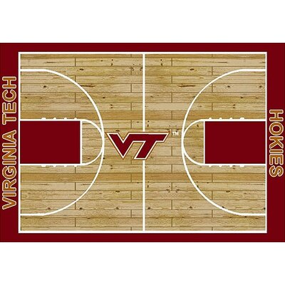 NCAA College Home Court Virginia Tech Novelty Rug Rug Size: 78 x 109