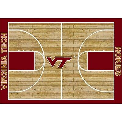 NCAA College Home Court Virginia Tech Novelty Rug Rug Size: 109 x 132