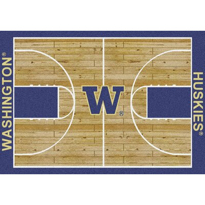 NCAA College Home Court Washington Novelty Rug Rug Size: 109 x 132