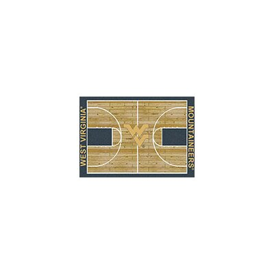 NCAA College Home Court West Virginia Novelty Rug Rug Size: Rectangle 109 x 132
