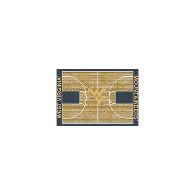 NCAA College Home Court West Virginia Novelty Rug Rug Size: 78 x 109