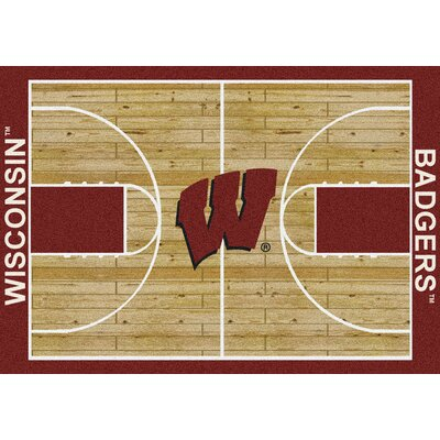 NCAA College Home Court Wisconsin Novelty Rug Rug Size: Rectangle 54 x 78