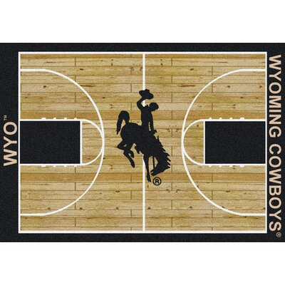 NCAA College Home Court Wyoming Novelty Rug Rug Size: Rectangle 109 x 132