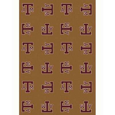 NCAA Collegiate II Texas A&M Novelty Rug in Gold Rug Size: 109 x 132