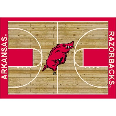 NCAA Court Arkansas Novelty Rug Rug Size: 78 x 109