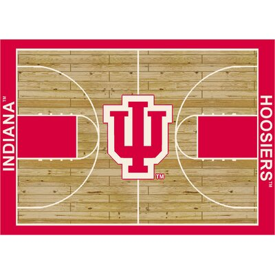 NCAA Court Indiana Novelty Rug Rug Size: 109 x 132