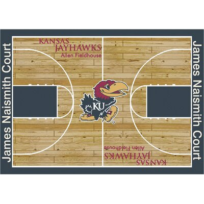 NCAA Court Kansas Novelty Rug Rug Size: 54 x 78