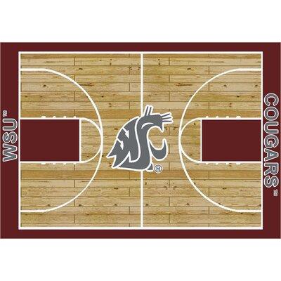 NCAA Court Washington State Novelty Rug Rug Size: 7'8