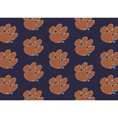 NCAA Team Repeating Novelty Rug Rug Size: 310 x 54, NCAA Team: Clemson - Tigers