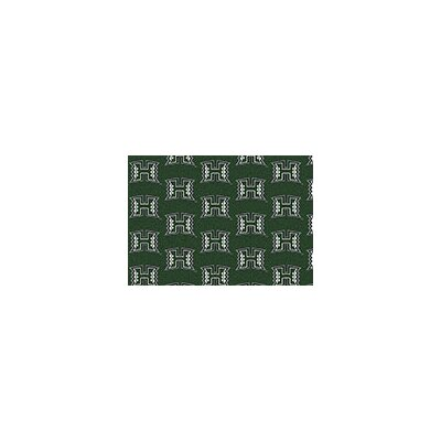 NCAA Team Repeating Novelty Rug Rug Size: 109 x 132, NCAA Team: Hawaii