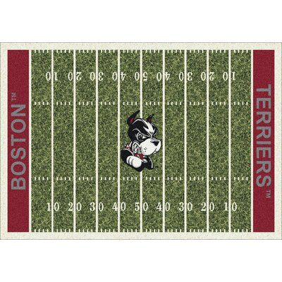 NCAA Home Field Boston Novelty Rug Rug Size: 109 x 132