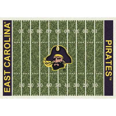 NCAA Home Field East Carolina Novelty Rug Rug Size: 54 x 78