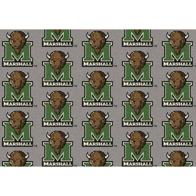 NCAA Team Repeating Novelty Rug Rug Size: 109 x 132, NCAA Team: Marshall
