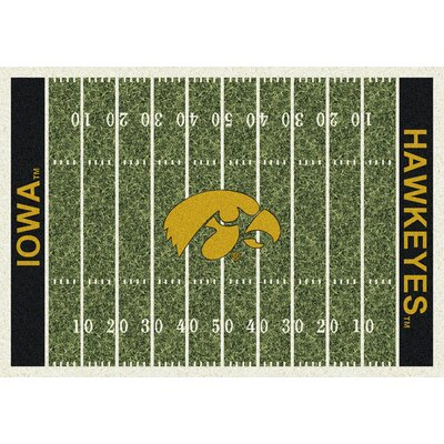NCAA Home Field Iowa Novelty Rug Rug Size: 109 x 132