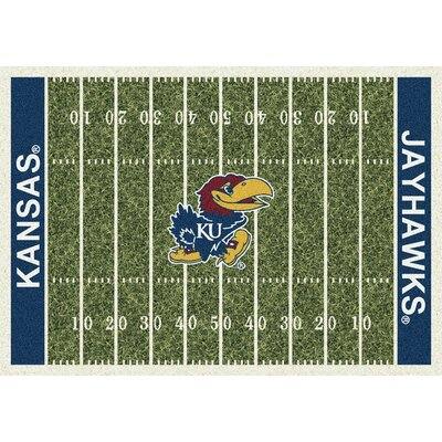 NCAA Home Field Kansas Novelty Rug Rug Size: 109 x 132