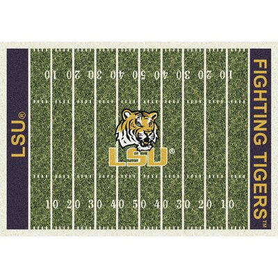 NCAA Home Field LSU Novelty Rug Rug Size: 109 x 132