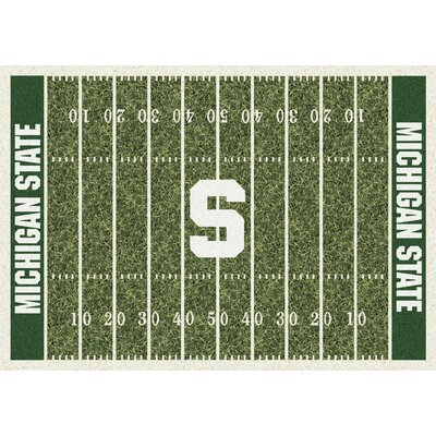 NCAA Home Field Michigan State Novelty Rug Rug Size: 54 x 78