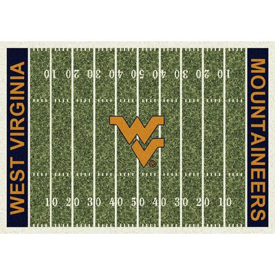NCAA Home Field West Virginia Novelty Rug Rug Size: 109 x 132