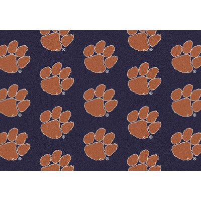 NCAA Team Repeating Novelty Rug Rug Size: 109 x 132, NCAA Team: Clemson
