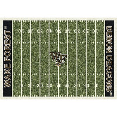 NCAA Home Field Novelty Rug Rug Size: Rectangle 109 x 132, NCAA Team: Wake Forest