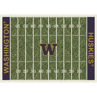 NCAA Home Field Novelty Rug Rug Size: Rectangle 109 x 132, NCAA Team: Washington
