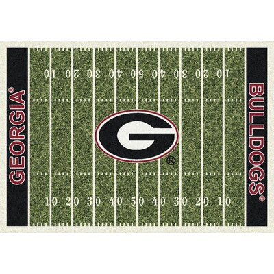 NCAA Home Field Novelty Rug Rug Size: Rectangle 78 x 109, NCAA Team: Georgia