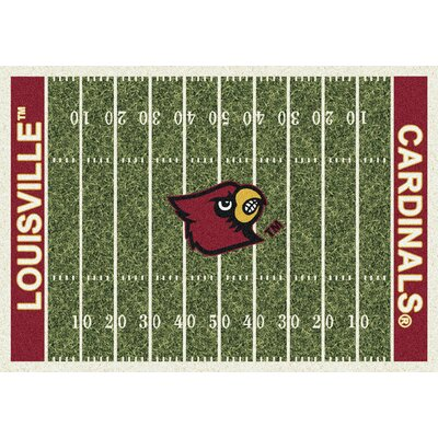 NCAA Home Field Novelty Rug Rug Size: Rectangle 109 x 132, NCAA Team: Louisville