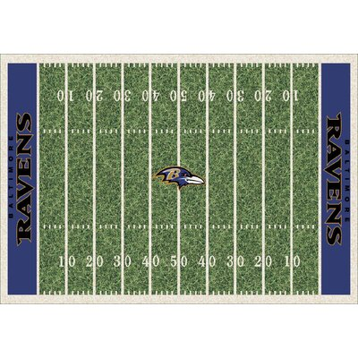NFL Homefield Baltimore Ravens Football Indoor/Outdoor Area Rug Size: 109 x 132