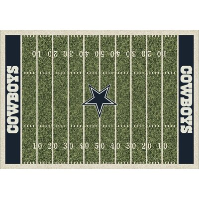 NFL Homefield Dallas Cowboys Football Indoor/Outdoor Area Rug Size: 109 x 132