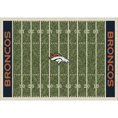 NFL Homefield Denver Broncos Football Indoor/Outdoor Area Rug Size: 109 x 132