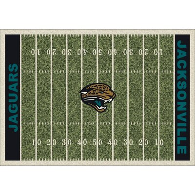 NFL Homefield Jacksonville Jaguars Football Indoor/Outdoor Area Rug Size: 54 x 78