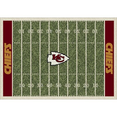 NFL Homefield Kansas City Chiefs Football Indoor/Outdoor Area Rug Size: 109 x 132