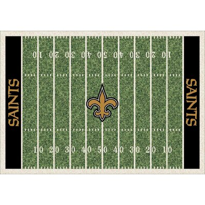 NFL Homefield New Orleans Saints Football Indoor/Outdoor Area Rug Size: 78 x 109